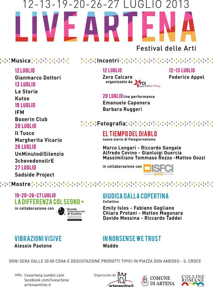 Programma del LiveArt 2013